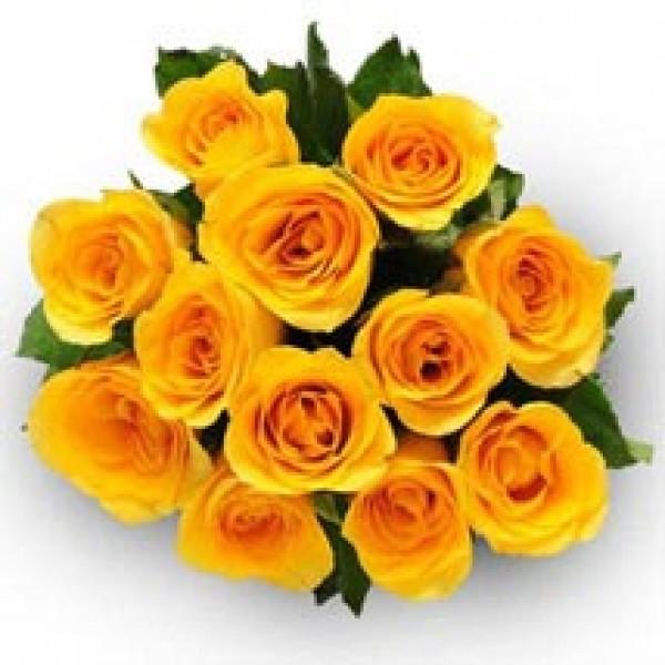 24 Rosas Amarillas Ramo De Kittyflor