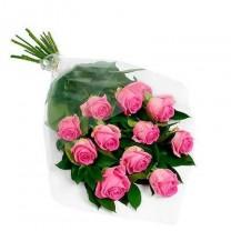 ▷ Ramos de Rosas Rosadas | 12 Tallos
