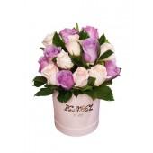 Box con Rosas Lila y Rosado ✔️