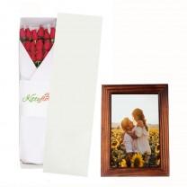 ▷ Arreglos Florales en Lima - Caja de Rosas Rojas + Porta Retrato