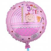 Globos de baby shower it's a girl
