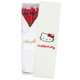 Caja de Rosas Rojas Hello Kitty Perú