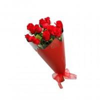 ▷ Ramo de Rosas Rojas - 12 Tallos