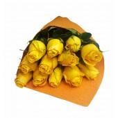 Ramo de Rosas Amarillas | 12 Tallos