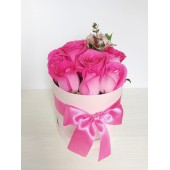 Box con Rosas Fucsias