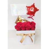 Box de Rosas Rojas con Chocolate | La combinación Perfecta