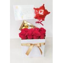 Box de Rosas Rojas con Chocolate