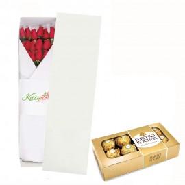 Caja de Rosas y Chocolates para Regalar
