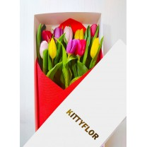 ▷ Cajas de 10 Tulipanes para Regalar | Kittyflor